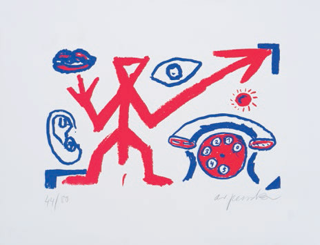 Rufnot - Edition Staeck (A.R.Penck)